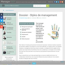 Styles de management : sélection d'articles