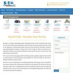 PPC Management, Pay Per Click Services, Adwords Management, India - SEOBusinessExpert