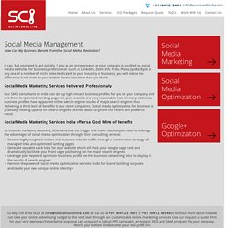 Social Media Management Service India - SCI Interactive