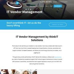 IT Vendor Management Service New Orleans