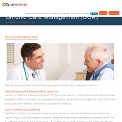 Chronic Care Management Services