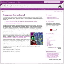 Management Services Journal