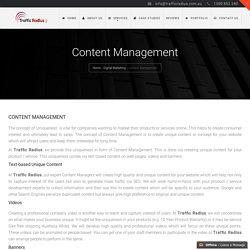 Content Management MelbourNE