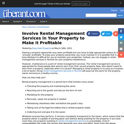 Involve Rental Management Services in Your Property to Make it Profitable
