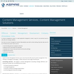 Content Management Services , Content Management Solutions
