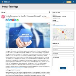 Vendor Management Services: The Underdog of Managed IT Services