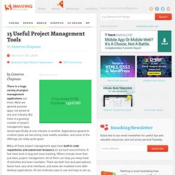 15 Useful Project Management Tools - Smashing Magazine