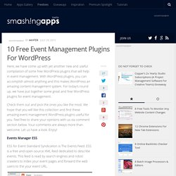10 Free Event Management Plugins For Wordpress