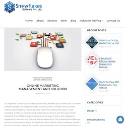 Online Marketing Management and Solution - Snowflakes Software Pvt Ltd