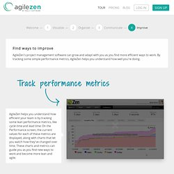 Lean Project Management Software Tour – Improve | AgileZen