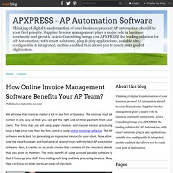 How Online Invoice Management Software Benefits Your AP Team?