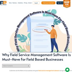 Management Software- Helping Hand For Field-Based Businesses