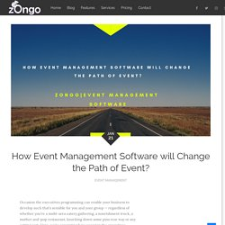 How Event Management Software will Change the Path of Event?