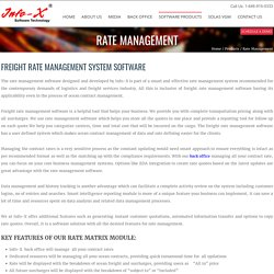 Freight Rate Management Software By Info-X Software Technology
