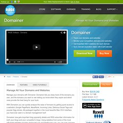 Domain Management Software | Domain SEO Tool | Domainer for Mac OS X & Windows
