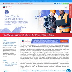 Quality Management Software for Oil and Gas