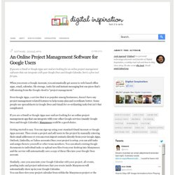 An Online Project Management Software for Gmail and Google Apps Users - Manymoon