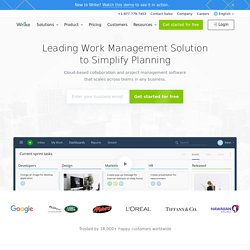 Project Management Software, Project Planning Software, Time Tracking Software: Wrike