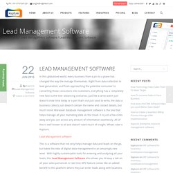 Lead Management Platform & Practices