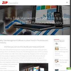 Why Task Management Software Is a New Trend in The Restaurant Industry