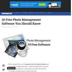 10 Free Photo Management Software You Should Know