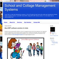 School and Collage Management Systems: Best ERP software solution In India