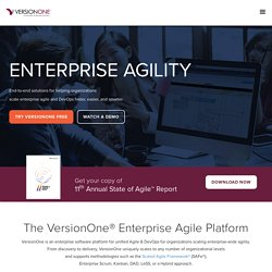 Agile Project Management, Agile Development and Scrum Tool | VersionOne