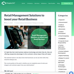 Retail Management Solutions to boost your Retail business