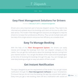 Easy Fleet Management Solutions For Drivers
