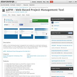 qdPM - Web-Based Project Management Tool | Free Business & Enterprise software downloads at SourceForge