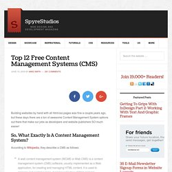 Top 12 Free Content Management Systems (CMS)
