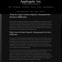 What to Expect from Property Management Services Stillwater - Applegate Commercial Properties Inc.