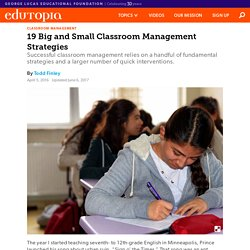 19 Big and Small Classroom Management Strategies