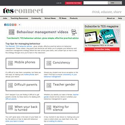 Behaviour management strategies videos