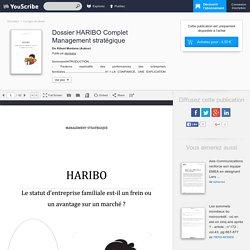 Dossier HARIBO Complet Management stratégique - Kibuni Montana - Corrigés de devoir