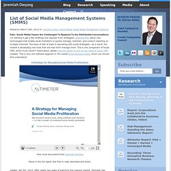 List of Social Media Management Systems (SMMS)