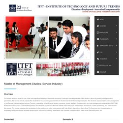 Master of Management Studies in Service Industry — ITFT College