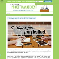 4 Management Styles for Giving Feedback