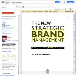 The New Strategic Brand Management ...