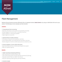 Fleet Management System For Business Needs – M2M-Allnet
