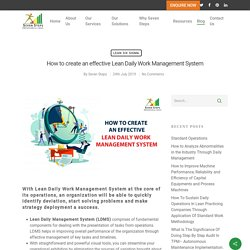 Effective Lean Daily Work Management System