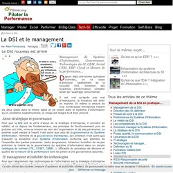 Management du SI Systeme d'information