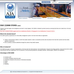 ISO 22000 - ISO 22000 Food Safety Management Systems Training Courses