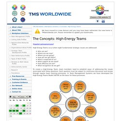 High-Energy Teams - Team Management Systems (TMS) worldwide