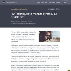 62 Stress Management Techniques, Strategies & Activities