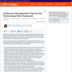 Classroom Management Tips for the Technology Rich Classroom