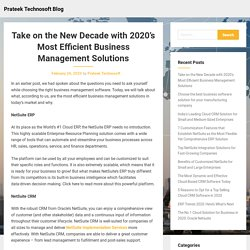 Take on the New Decade with 2020's Most Efficient Business Management Solutions – Prateek Technosoft Blog