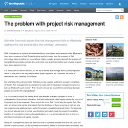 The problem with project risk management