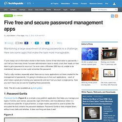 Five free and secure password management apps