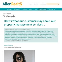 Property Management Testimonials